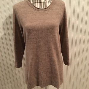 Carolyn Taylor brown 3/4 sleeve sweater sz Large